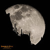 Southwestern Silhouette with Rising Supermoon