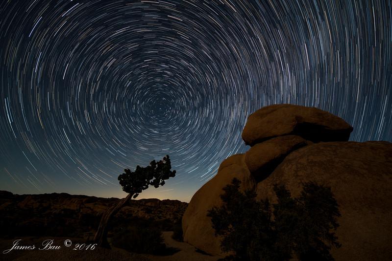 Jumiper and Star Trails