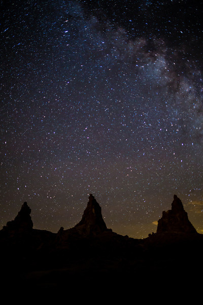 Milky Way over the Trona Pinnacles, California