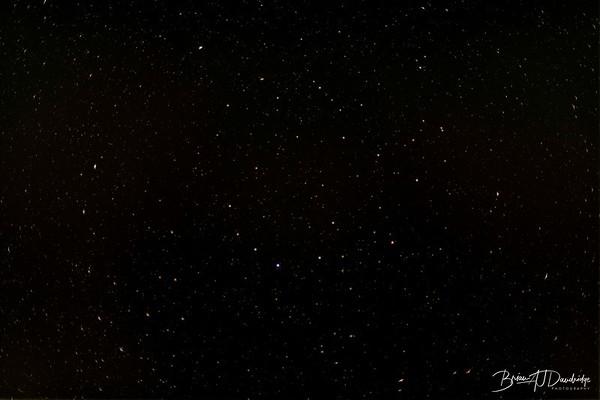 Made from 20 light frames with 10 dark frames by Starry Sky Stacker 1.3.1.  Algorithm: Median
