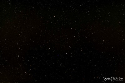 Made from 20 light frames with 10 dark frames by Starry Sky Stacker 1.3.1.  Algorithm: Median