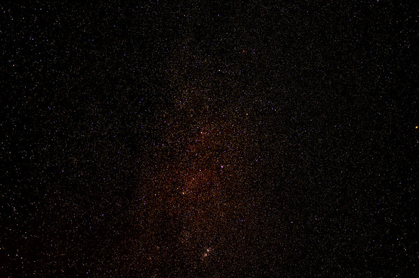 A portion of the Milky Way with Cassiopeia Centre Stage