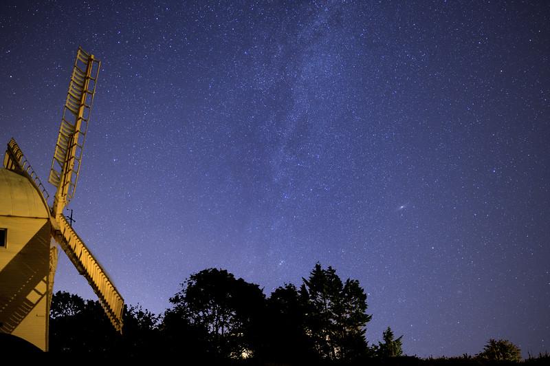 Jill faces the Milky Way