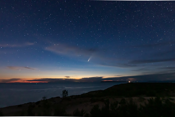 NEOWISE Chasing the Sunset