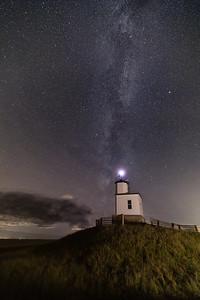 Milky Way over the Cattle Point Light on San Juan Island, Washington