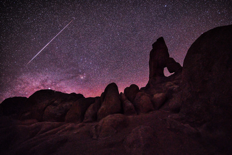 Shooting star over boot heel arch