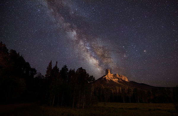 Milky Way above Courthouse Mt