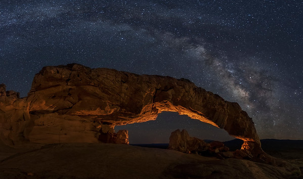 Milky Way and Sunset Arch