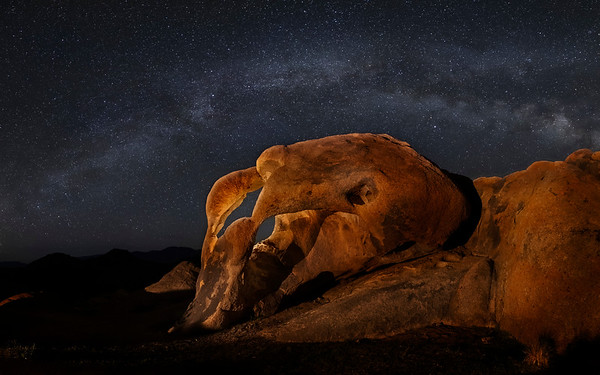 Milky Way and Cyclops Arch