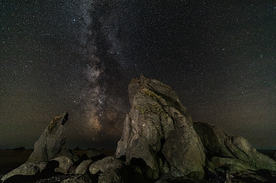 Milky Way over sea stacks - Ruby Beach, Olympic National Park