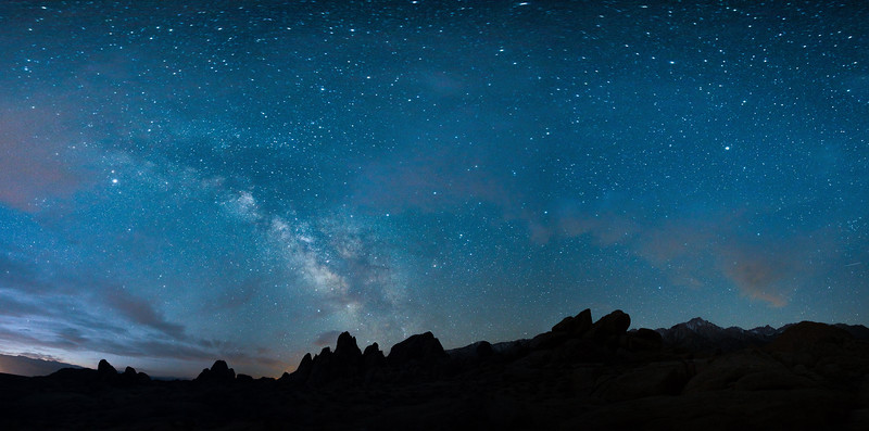Milky Way and Mt. Whitney over the Alabama Hills