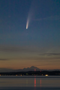 Worth getting up early for - Comet Neowise over Mount Baker at 3:15am this morning!