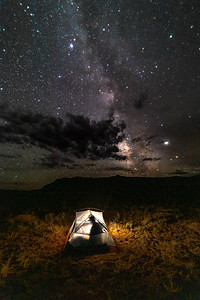 Camping under the Milky Way!
