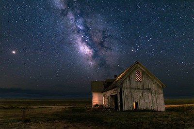 Harrington Homestead with Milky Way