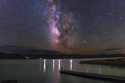 Blue Mesa Milky Way