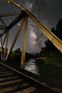 Milky Way Over the Arkansas River