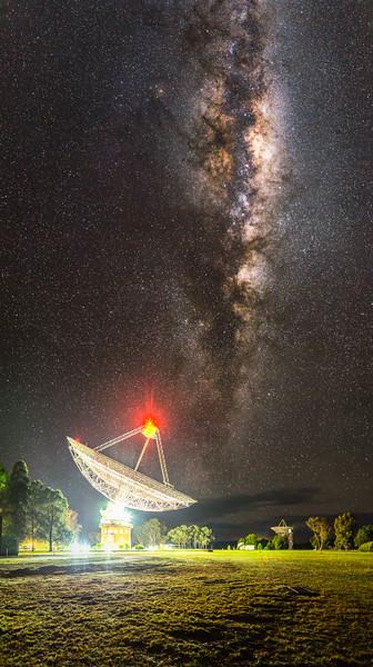 The Australian CSIRO Parkes Radio Telescope listening for pulsars in the Milky Way, 12th July 2013.