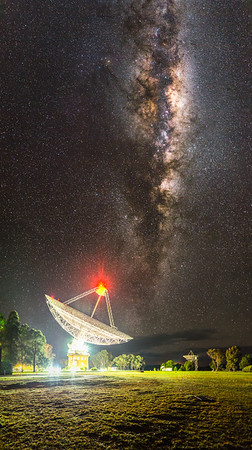 The Australian CSIRO Parkes Radio Telescope listening for pulsars in the Milky Way, 12th July 2013.