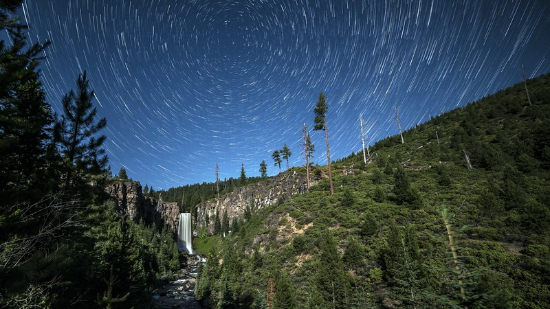Tumalo Falls Summer Star Trails