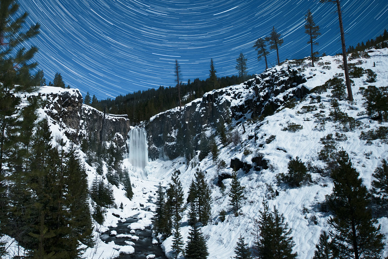 Tumalo Falls Winter Star Trails