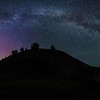 Painted Hills - Aurora with the Milky Way arch