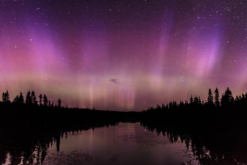 Aurora at Cascade River <br /> <br /> Along The Grade <br /> Grand Marais, Minnesota <br /> (5II2-15645)