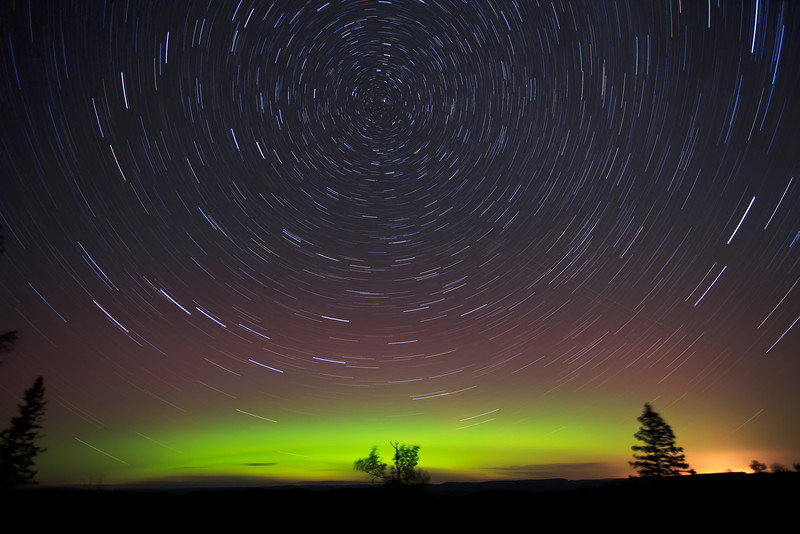 Spinning Stars aove Mt Maude <br /> <br /> Grand Portage Indian Reservation <br /> Grand Portage, Minnesota <br /> (5II2-03664)