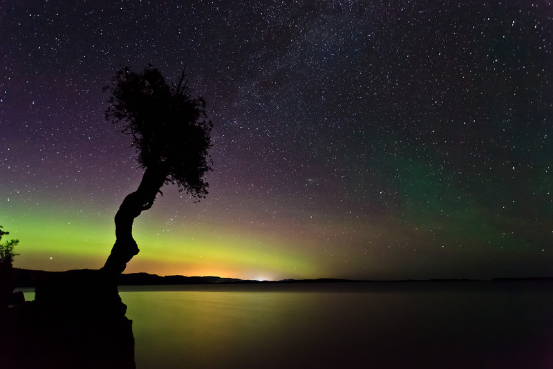 Aurora Shines on the Spirit Tree <br /> <br /> Grand Portage Indian Reservation <br /> Grand Portage, Minnesota <br /> (5II2-00807)