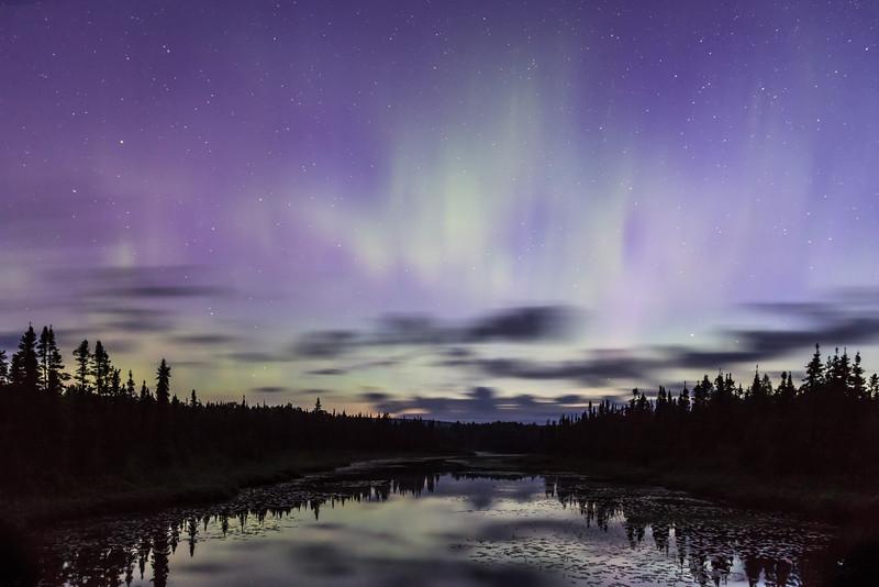 Dawn Approaching, Aurora Fading  <br /> <br /> Along The Grade <br /> Grand Marais, Minnesota <br /> (5II2-15684)