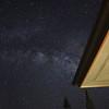 Milky Way behind roof