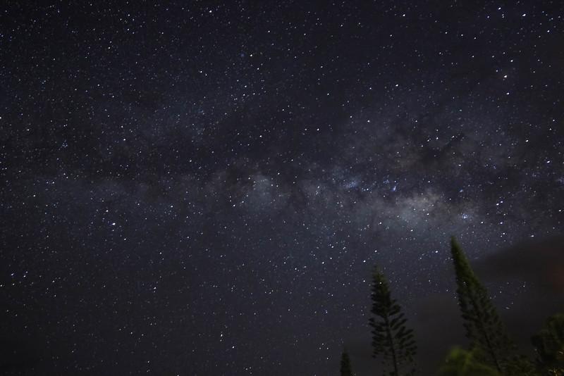 Clouds encroaching on Milky Way