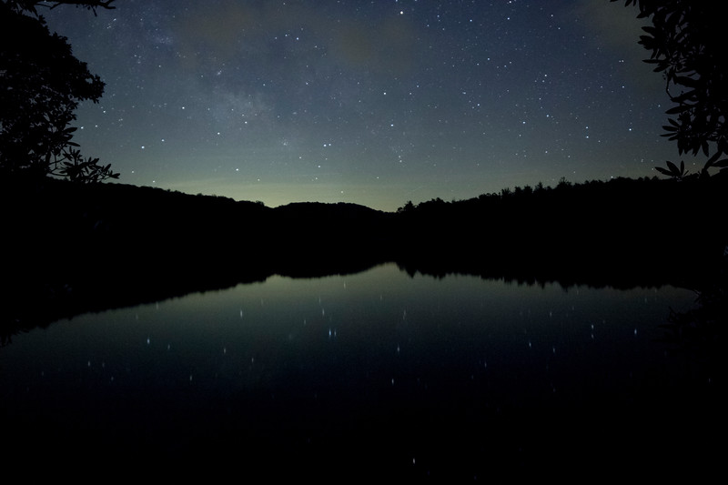Faded Milky Way over Lake