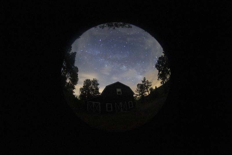 Milky way long exposure 180° fisheye