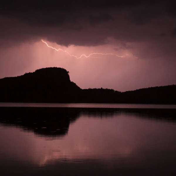 Lightning at McFarland Lake <br /> <br /> McFarland Lake <br /> End of the Arrowhead Trail <br /> Hoveland, Minnesota <br /> (5II2-15252)