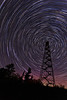 Mt Maude Firetower at Night <br /> <br /> Grand Portage Indian Reservation <br /> Grand Portage, Minnesota <br /> (5II2-03635-46)