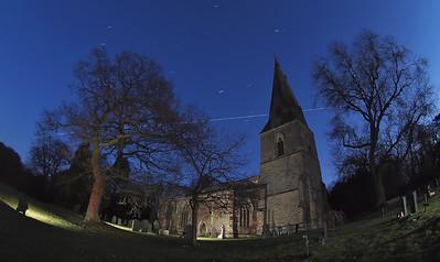 ISS passes church