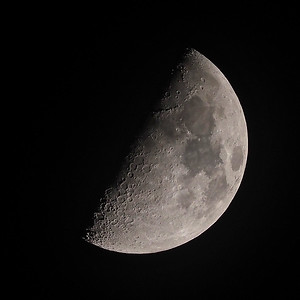 53% waxing gibbous moon 21st March 2021