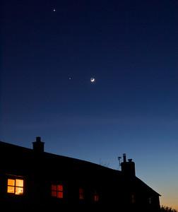 Moon Venus & Jupiter