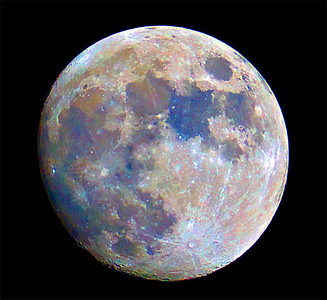 Moon in colour
