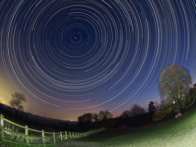 Wide Angle Star Trail