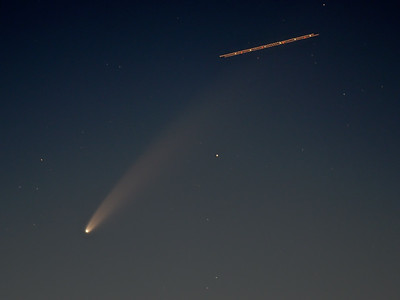 Comet Neowise & Plane 10th July