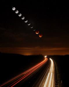Lunar Eclipse Trails