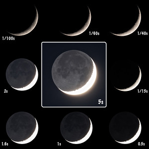Earthshine exposure comparison