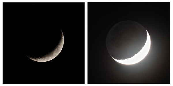 17% Crescent Earthshine