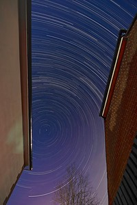 New Year eve star trail