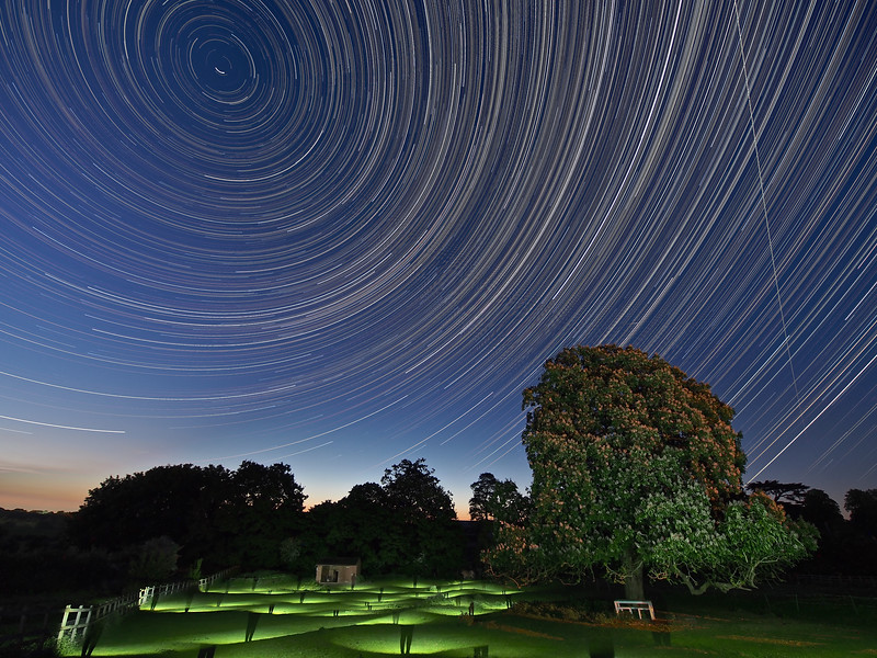 Ghostly Star Trail & ISS