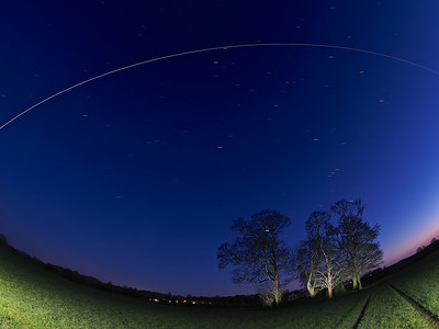 International Space Station flyby