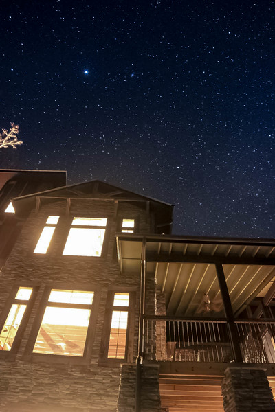 Stars over cabin in Alabama- edited