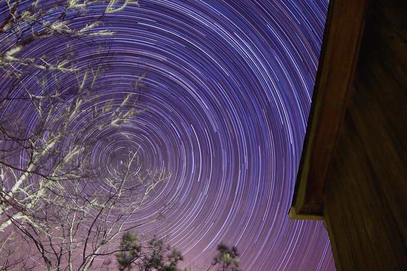Star Trail in Talladega, Alabama- edited