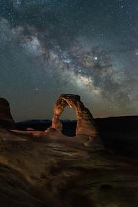 Delicate Arch Nightscape